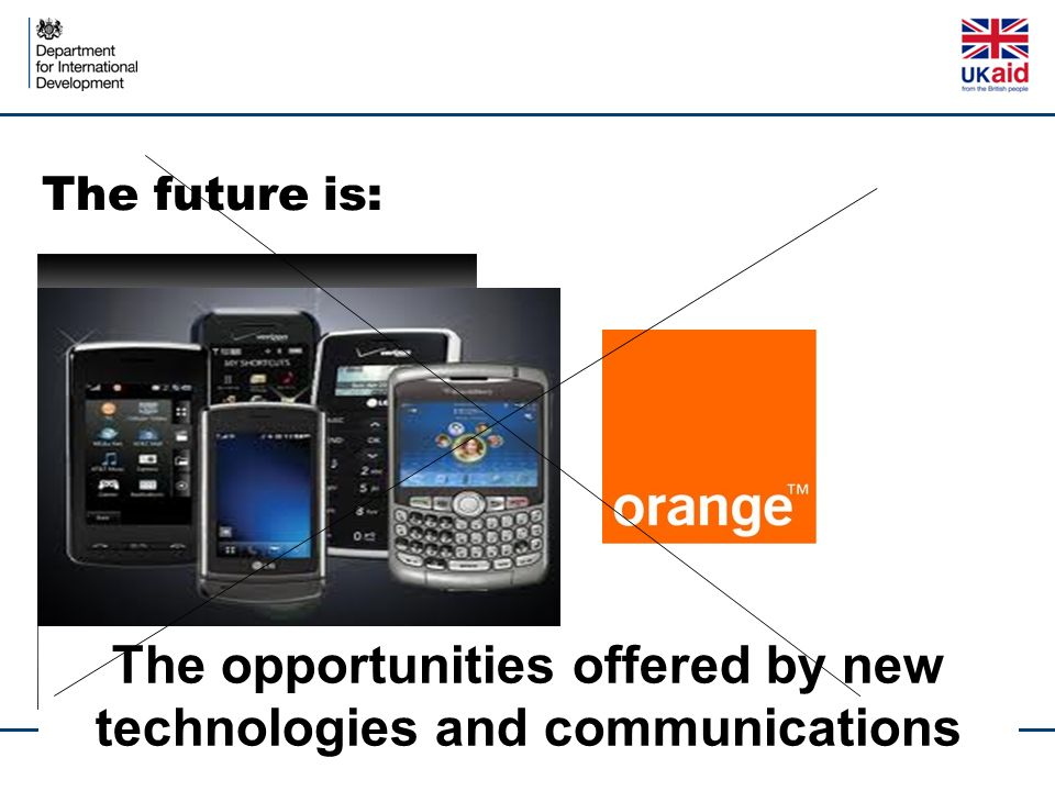 The opportunities offered by new technologies and communications The future is: