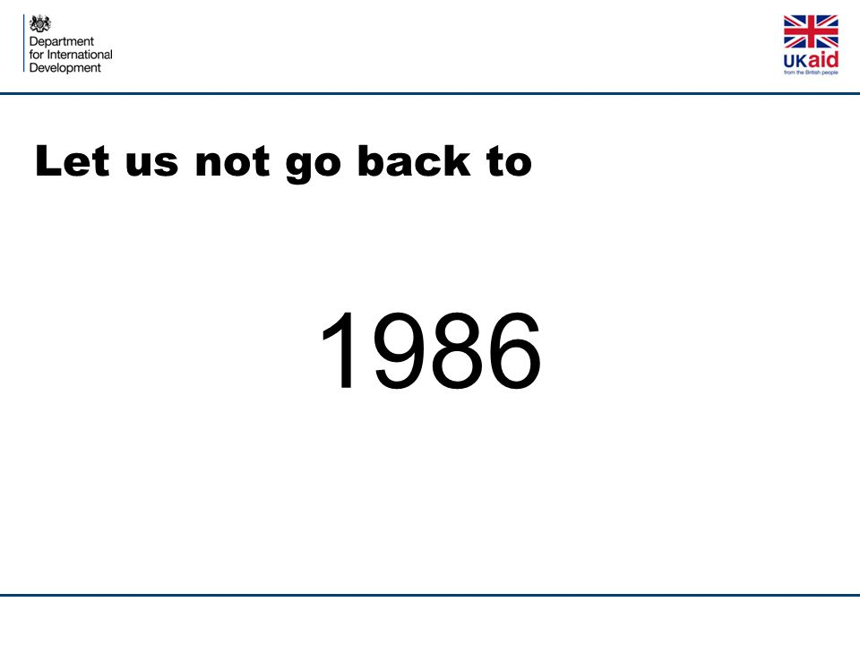 Let us not go back to 1986