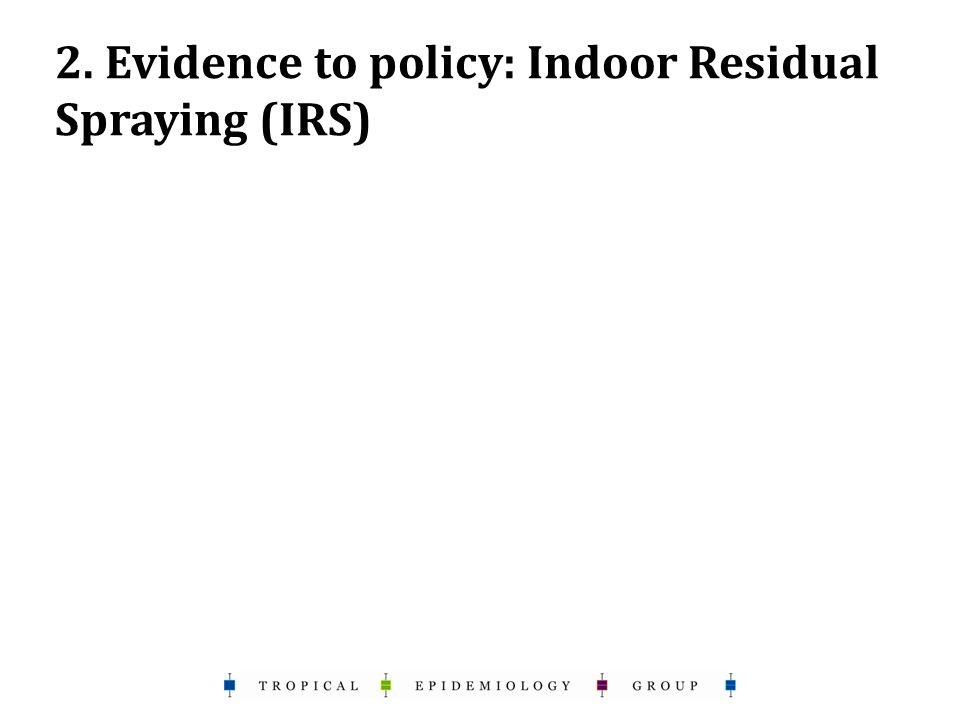 2. Evidence to policy: Indoor Residual Spraying (IRS)