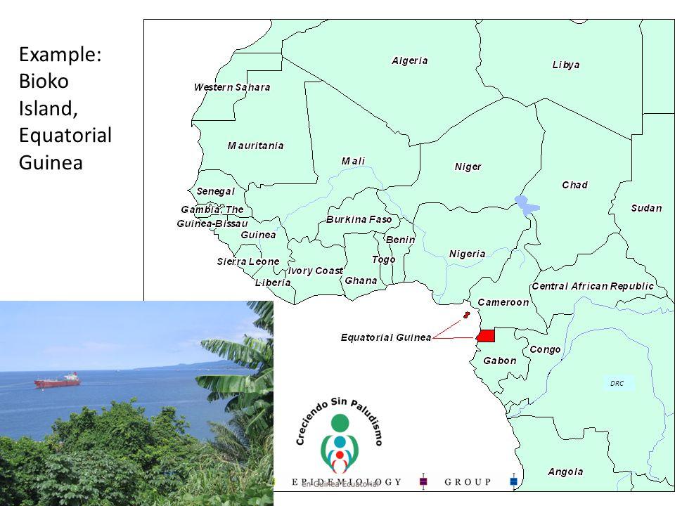 Example: Bioko Island, Equatorial Guinea DRC