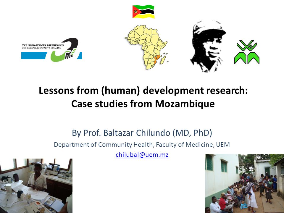 Lessons from (human) development research: Case studies from Mozambique By Prof.