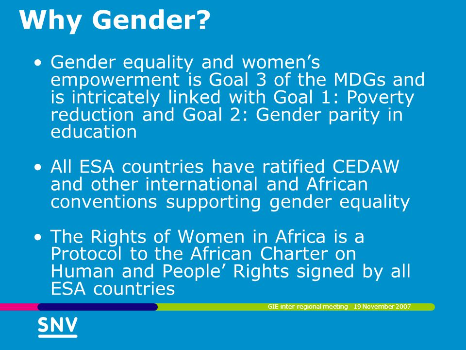 Why Gender.