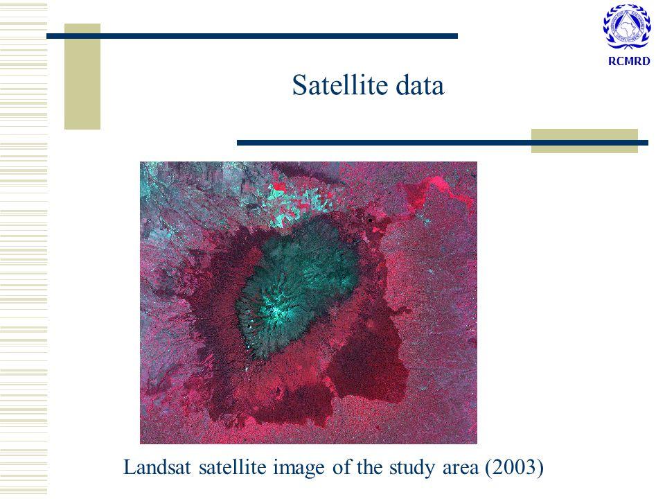 RCMRD Landsat satellite image of the study area (2003) Satellite data