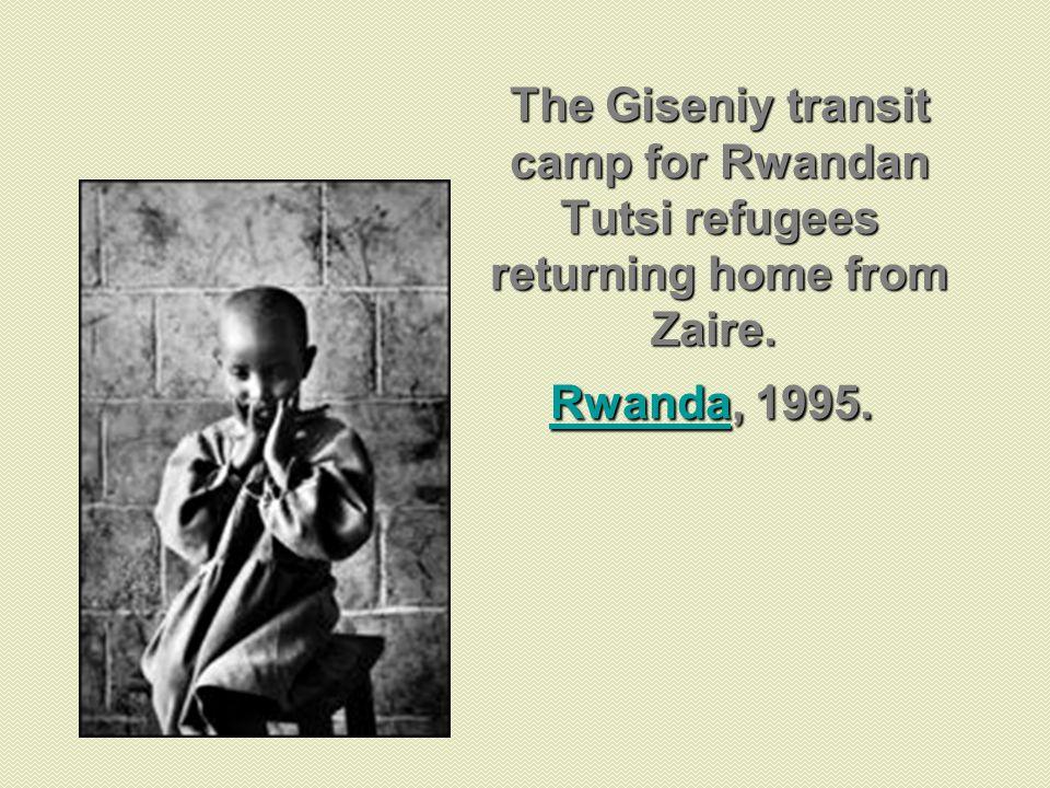 The Giseniy transit camp for Rwandan Tutsi refugees returning home from Zaire. Rwanda, 1995. Rwanda