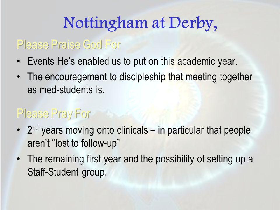 Nottingham at Derby,