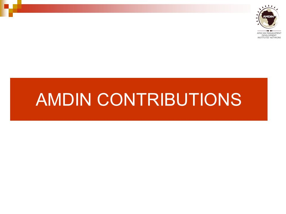 AMDIN CONTRIBUTIONS
