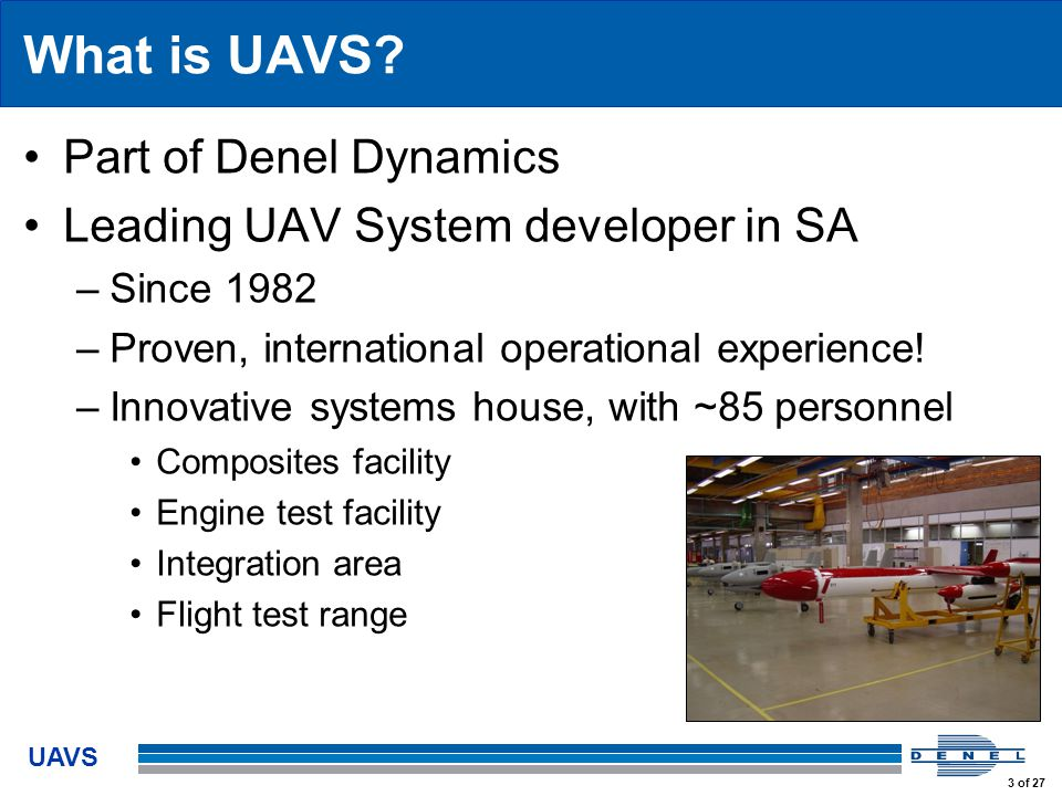 UAVS 3 of 27 What is UAVS.
