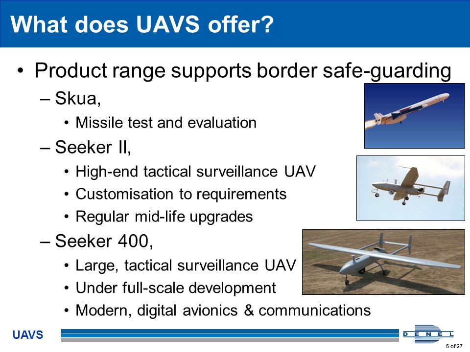 UAVS 5 of 27 What does UAVS offer.