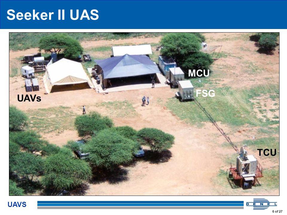 UAVS 6 of 27 Seeker II UAS MCU FSG TCU UAVs