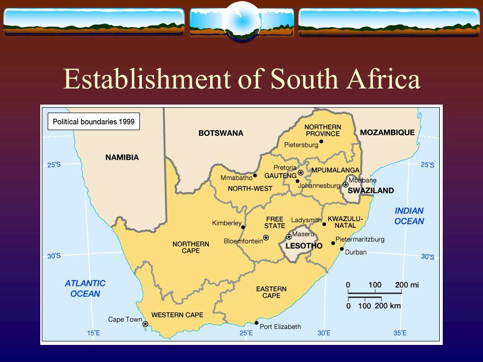 Establishment of South Africa