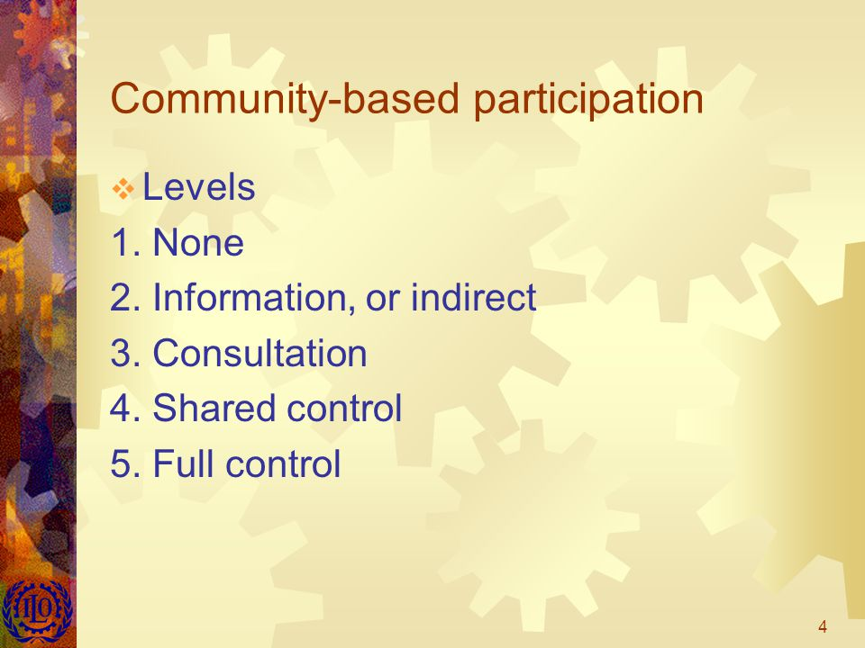 5 City-wide participation  E.g. Participatory Budgeting