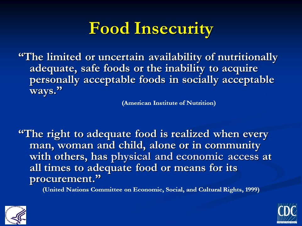 ~ 850 million people were food insecure last year Global Food Insecurity (World Food Programme)
