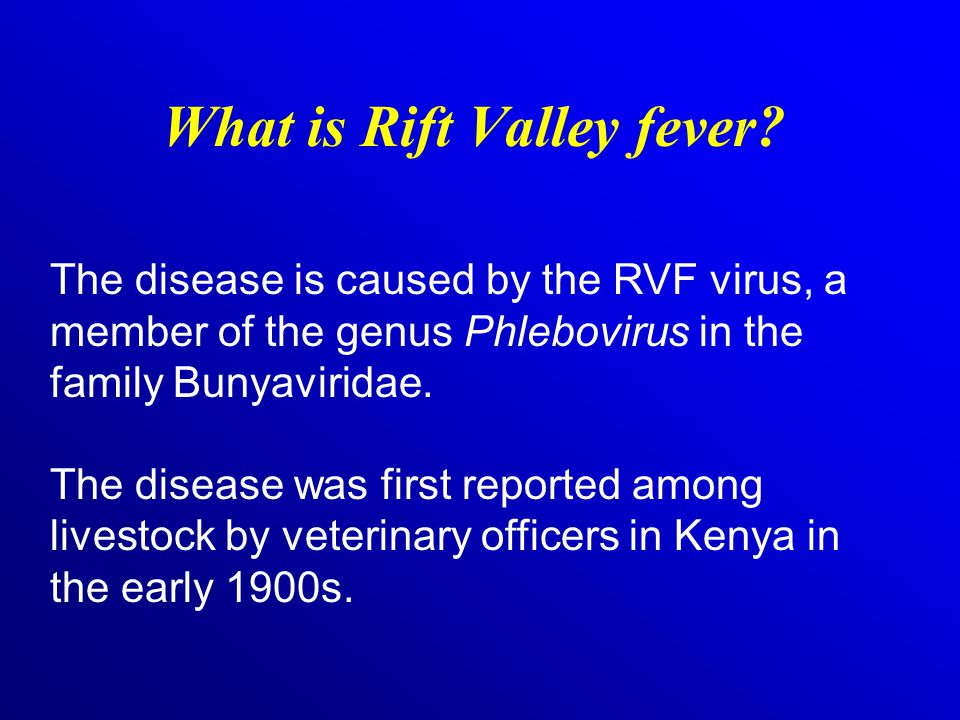 What needs to be done to address the threat of RVF.