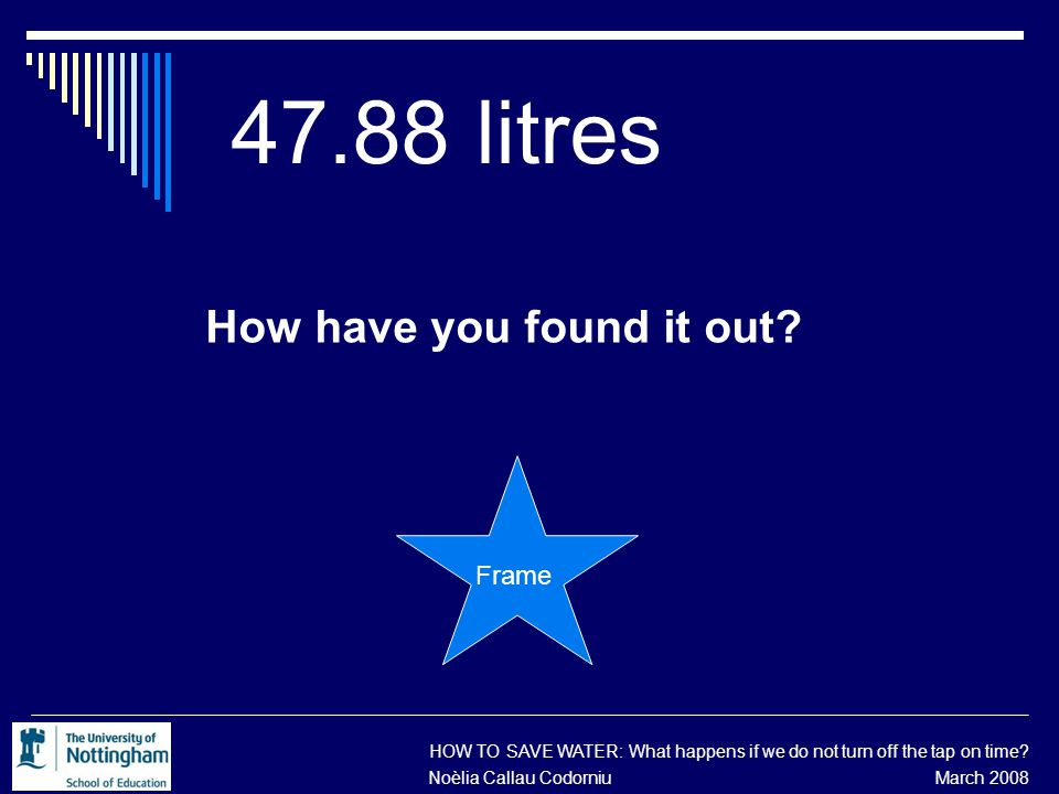 47.88 litres How have you found it out.