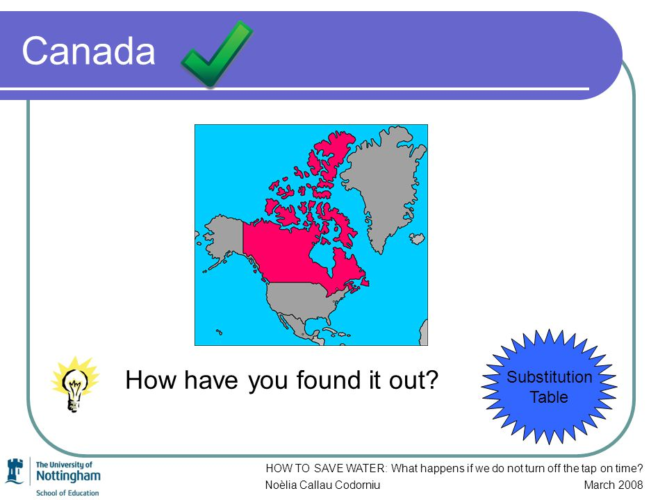 Canada How have you found it out.