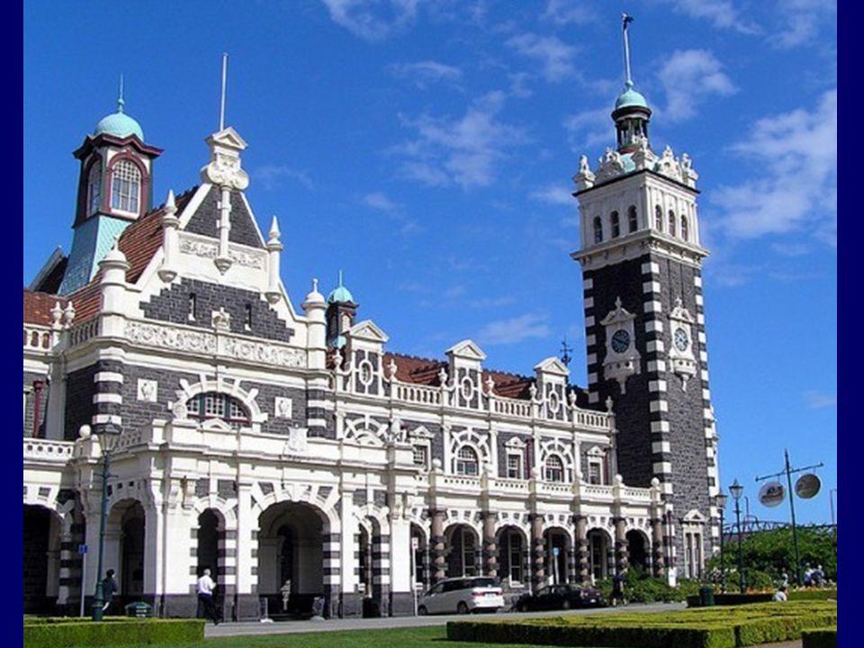 Dunedin Train Station New Zealand