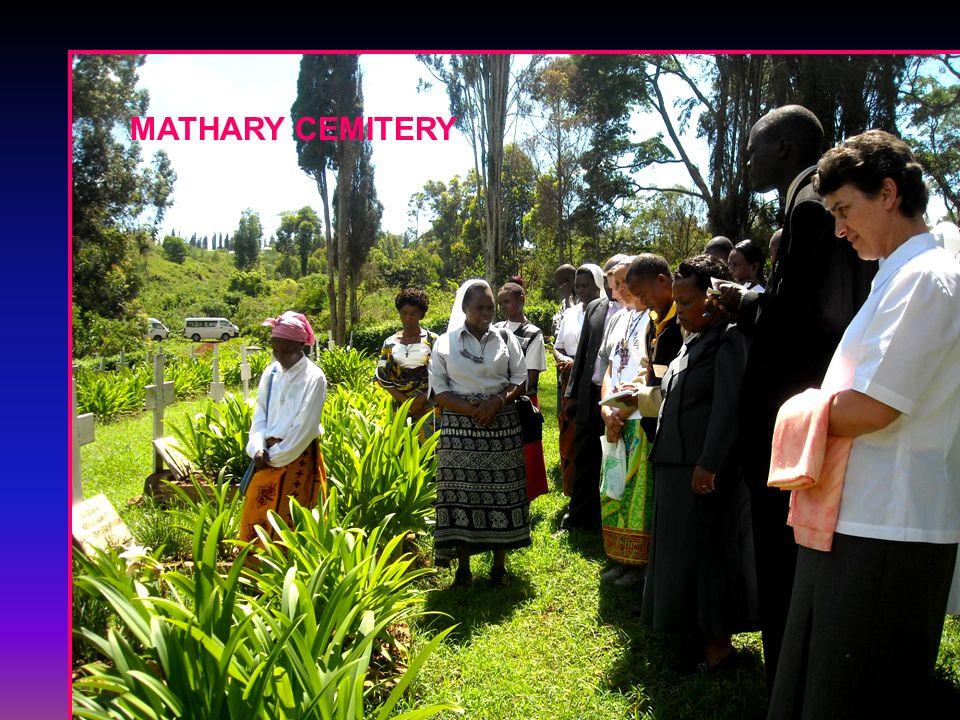 CONTINENTAL MEETING 2009 MATHARI: Visiting Sr. Irene Remains