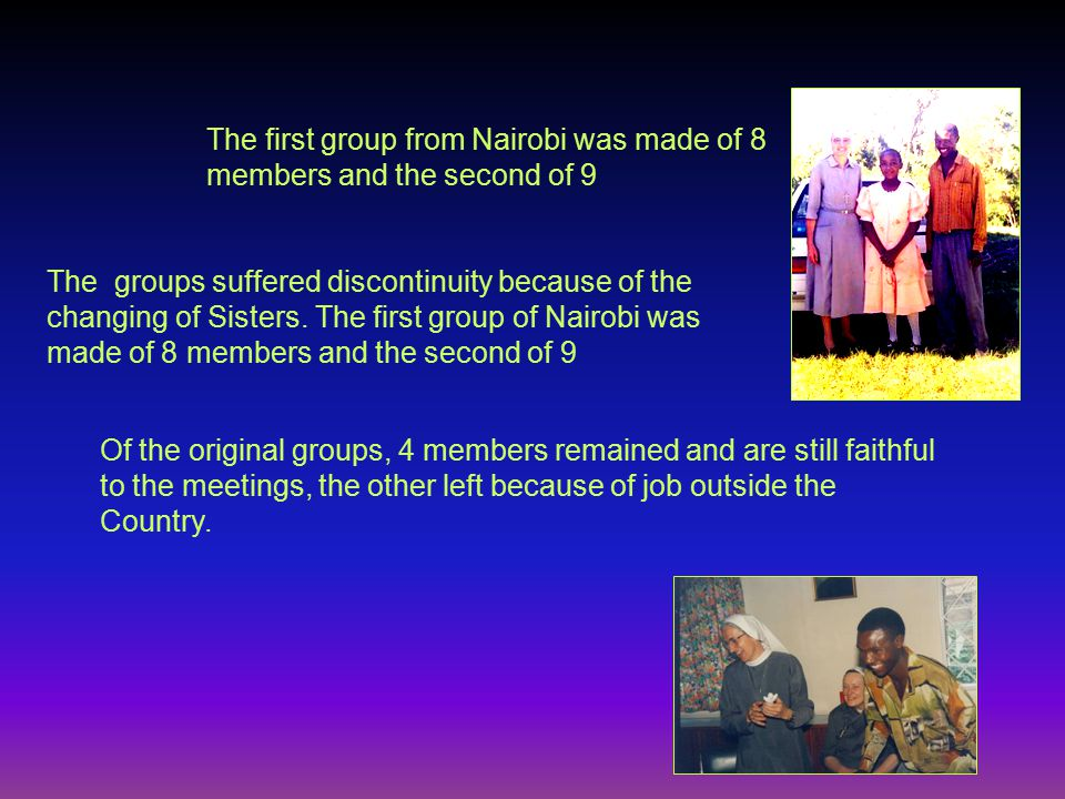 The Group was meeting twice a month The main topic of formation was the life and spirituality of Blessed J.