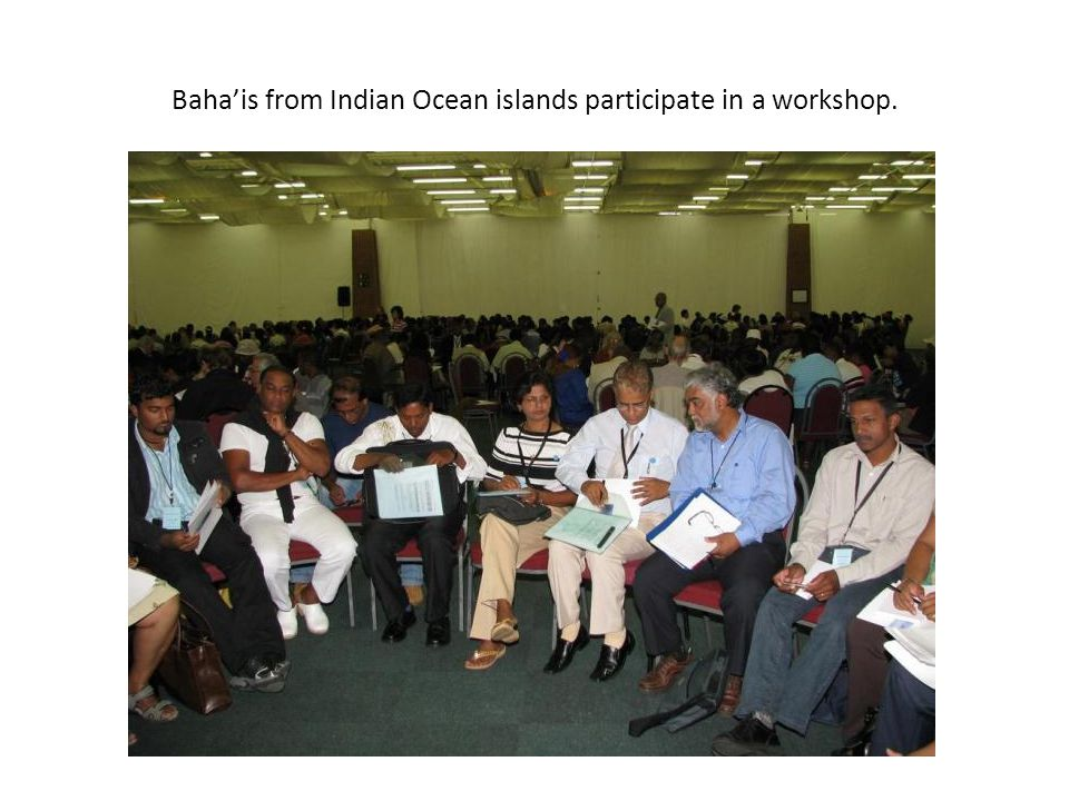Baha'is from Indian Ocean islands participate in a workshop.