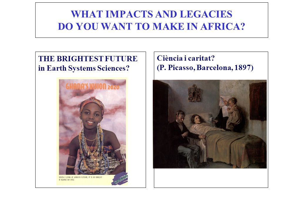 WHAT IMPACTS AND LEGACIES DO YOU WANT TO MAKE IN AFRICA.