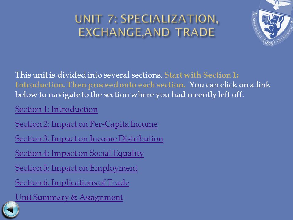 This unit is divided into several sections. Start with Section 1: Introduction.