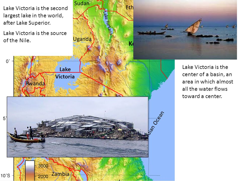 Lake Victoria Lake Victoria is the second largest lake in the world, after Lake Superior. Lake Victoria is the source of the Nile. Lake Victoria is th