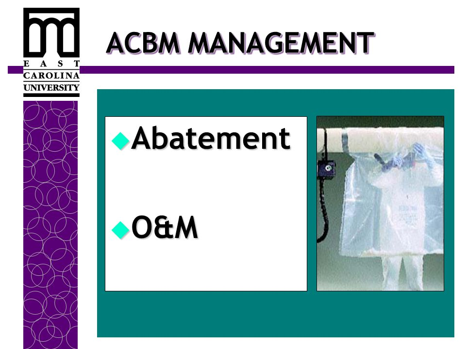 ACBM MANAGEMENT  Abatement  O&M