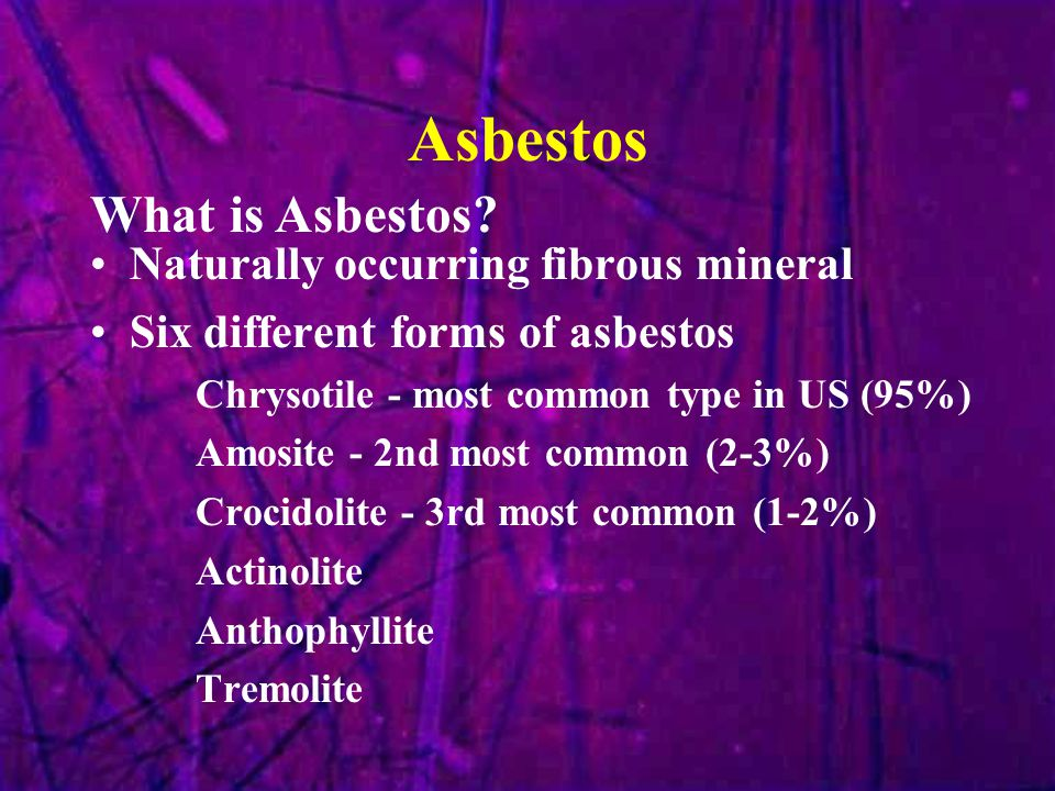 Personal Responsibility Do not damage or disturb any asbestos- containing materials Immediately report the presence of damaged asbestos-containing or suspect asbestos- containing material to your supervisor.