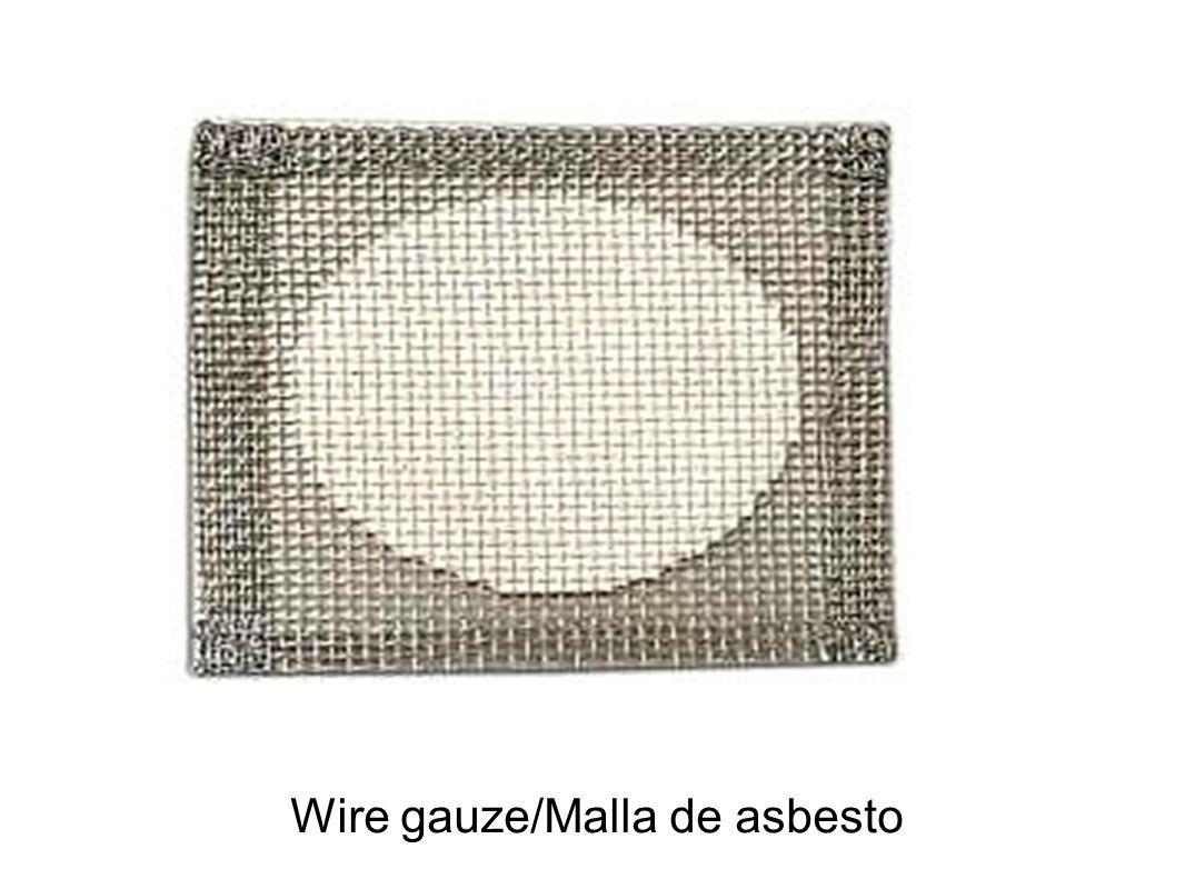 Wire gauze/Malla de asbesto