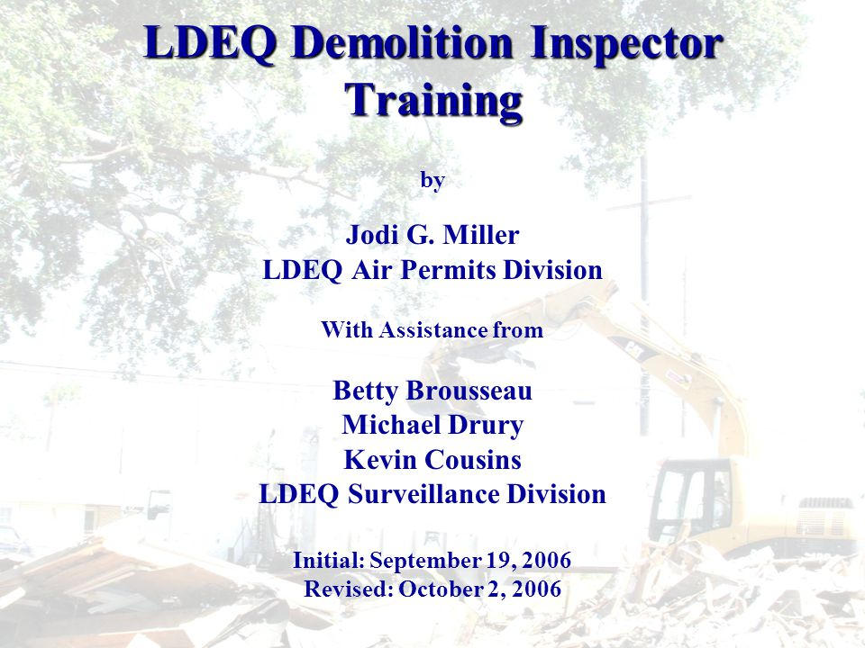 LESHAP Compliant Asbestos Disposal Sites http://www.deq.louisiana.gov/portal/Portals/0/permits/AsbestosandLead/Recognize d%20Friable%20Asbestos%20Landfills%20Rev%205-24-06.xlshttp://www.deq.louisiana.gov/portal/Portals/0/permits/AsbestosandLead/Recognize d%20Friable%20Asbestos%20Landfills%20Rev%205-24-06.xlshttp://www.deq.louisiana.gov/portal/Portals/0/permits/AsbestosandLead/Recognize d%20Friable%20Asbestos%20Landfills%20Rev%205-24-06.xlshttp://www.deq.louisiana.gov/portal/Portals/0/permits/AsbestosandLead/Recognize d%20Friable%20Asbestos%20Landfills%20Rev%205-24-06.xls In-State Landfills Recognized by Louisiana DEQ to Accept Asbestos Containing Waste Material Disposal Site NameContactPhone NoPhysical Address Chef Menteur C&D Landfill (Enhanced - accepts ACWM from the Hurricane generated residential structures or curbside only) Tim Hawkins (985) 246- 6405 16600 Chef Menteur Hwy, N.O.