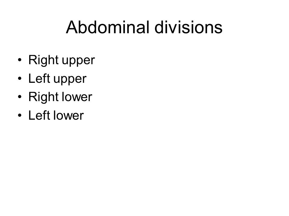 ABDOMEN AND THORAX REGIONS RT AND LEFT HYPOCHONDRIAC EPIGASTRIC RT AND LEFT LUMBAR UMBILICAL RT AND LEFT ILIAC HYPOGASTRIC