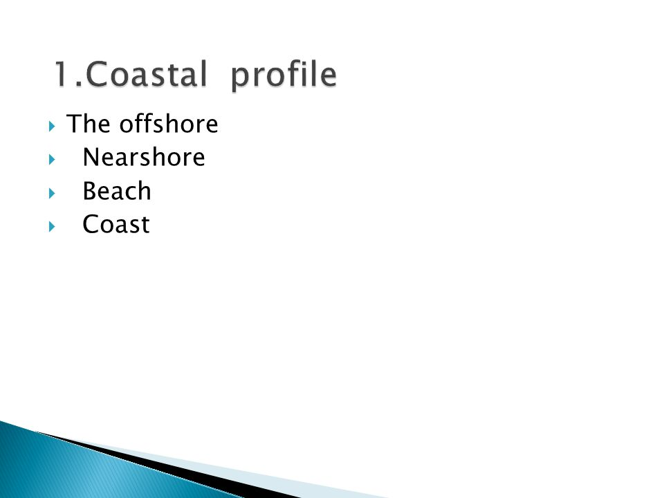  The offshore  Nearshore  Beach  Coast