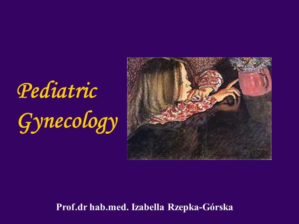 Pediatric Gynecology Prof.dr hab.med. Izabella Rzepka-Górska