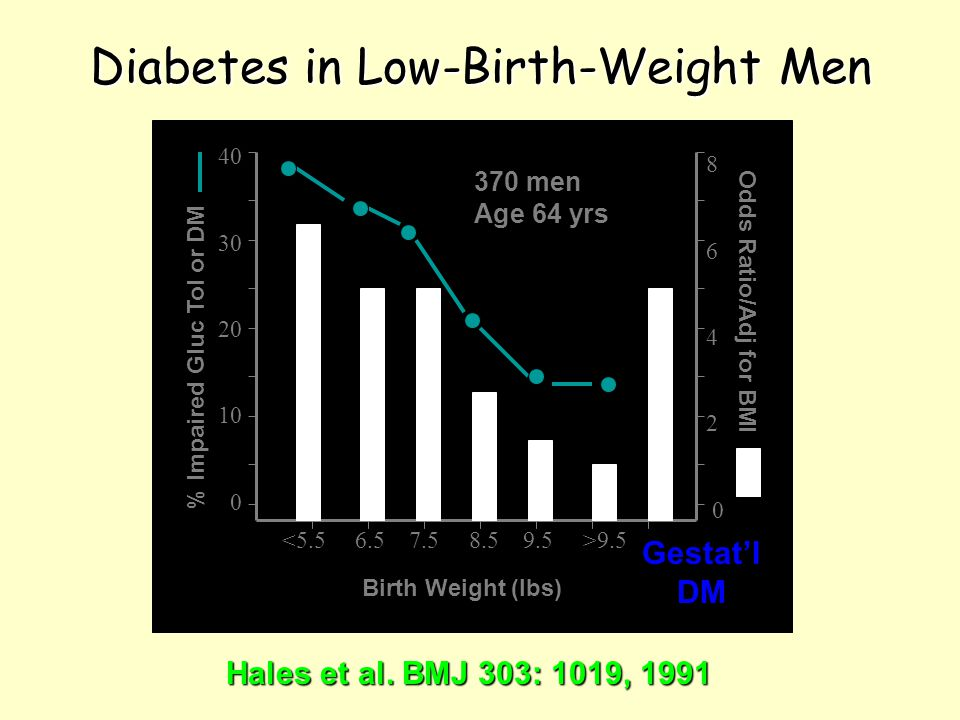 Diabetes in Low-Birth-Weight Men Hales et al.