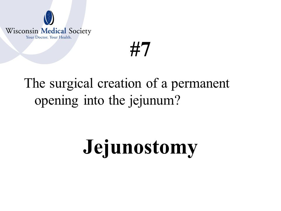 #6 A plastic surgical repair of the small intestines Enteroplasty