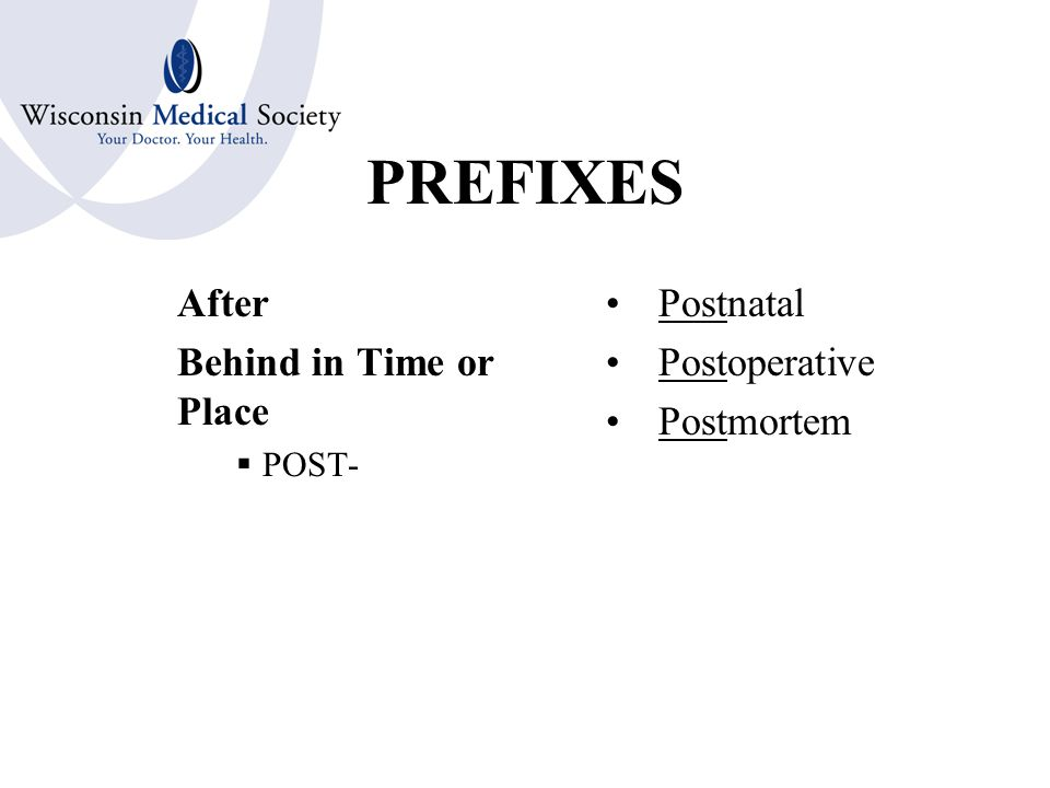 PREFIXES Increased Many Much  POLY- Polycythemia Polyarthritis Polygraph