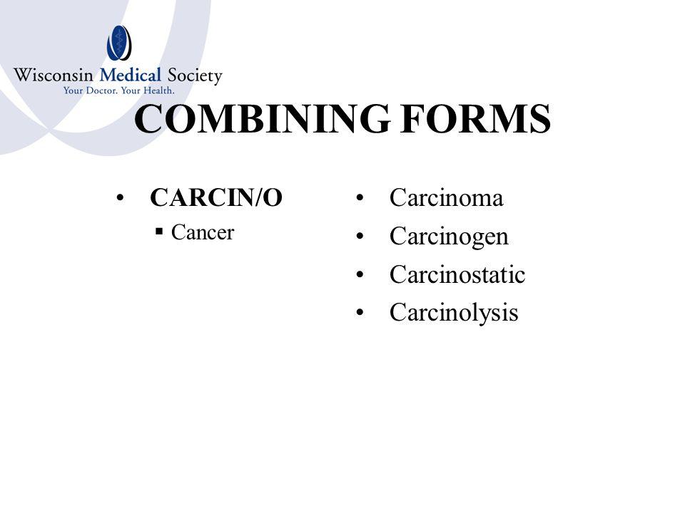 COMBINING FORMS ARTHR/O  Joint Arthritis Arthroscopy Arthroplasty Arthrocentesis