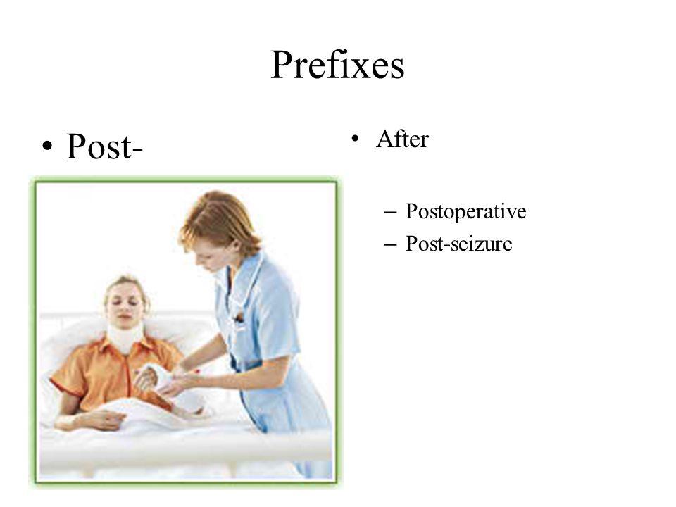 Prefixes Post- After – Postoperative – Post-seizure