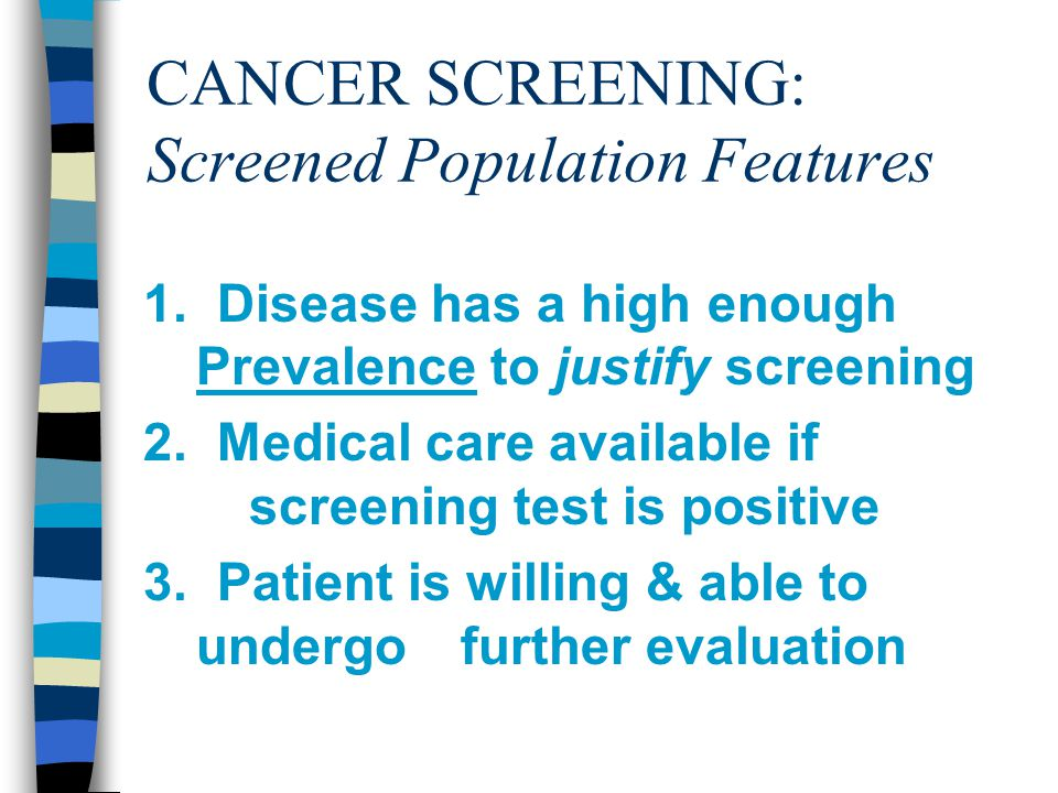 CANCER SCREENING: Screened Population Features 1.