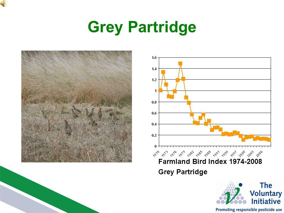 Grey Partridge Farmland Bird Index 1974-2008 Grey Partridge
