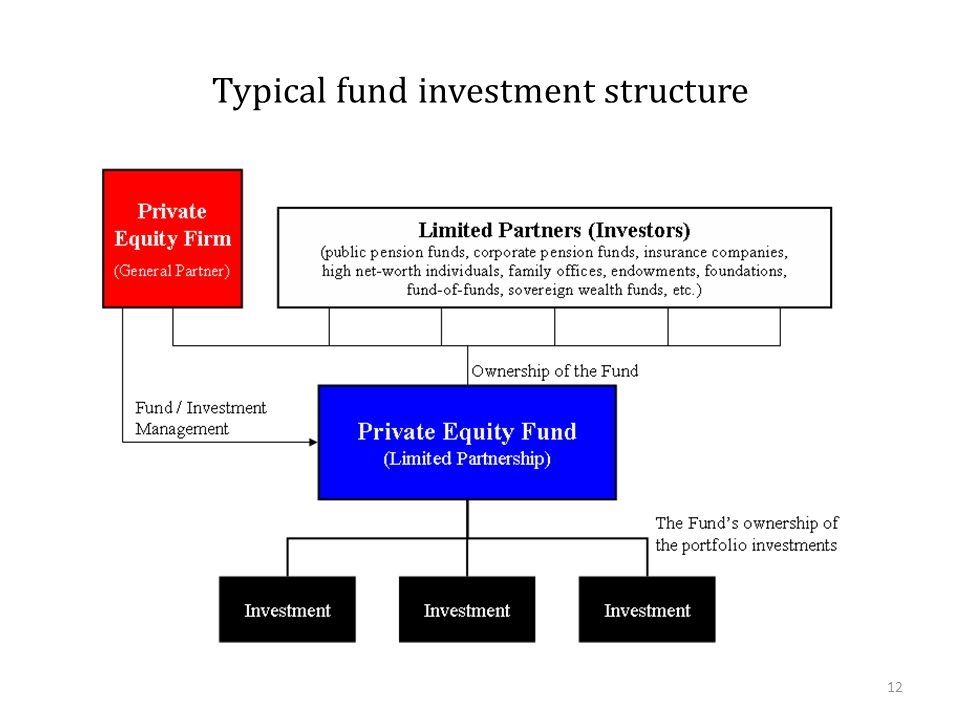 Typical fund investment structure 12