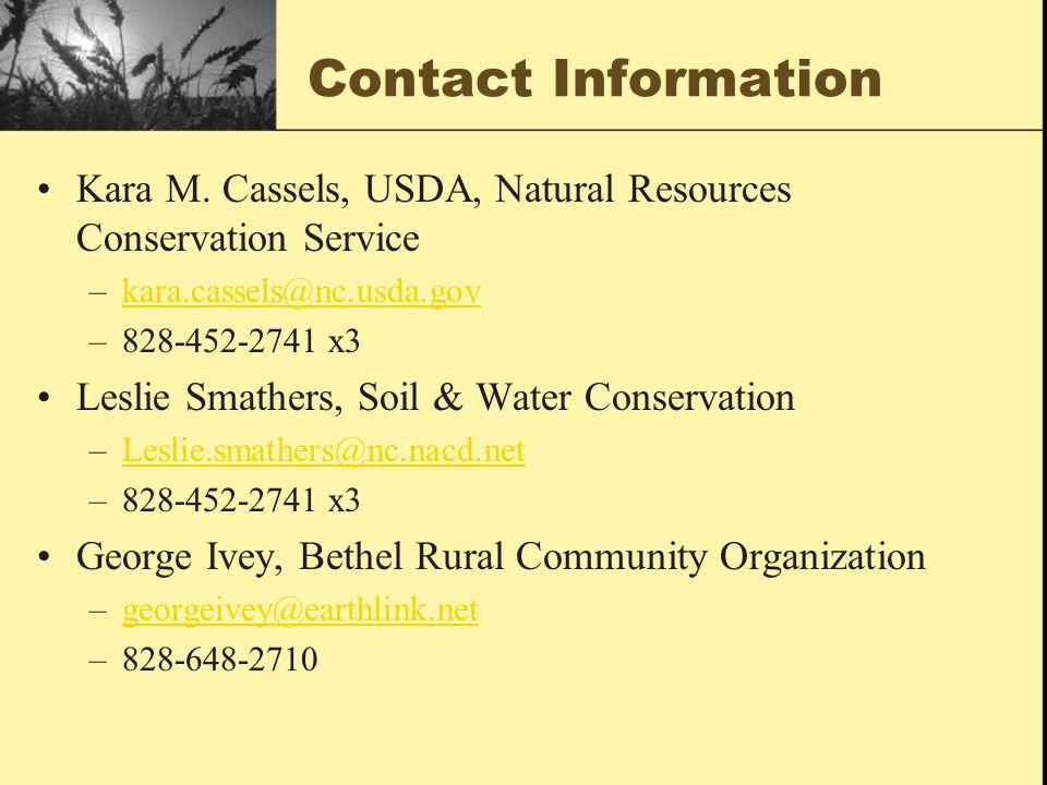 Contact Information Kara M.