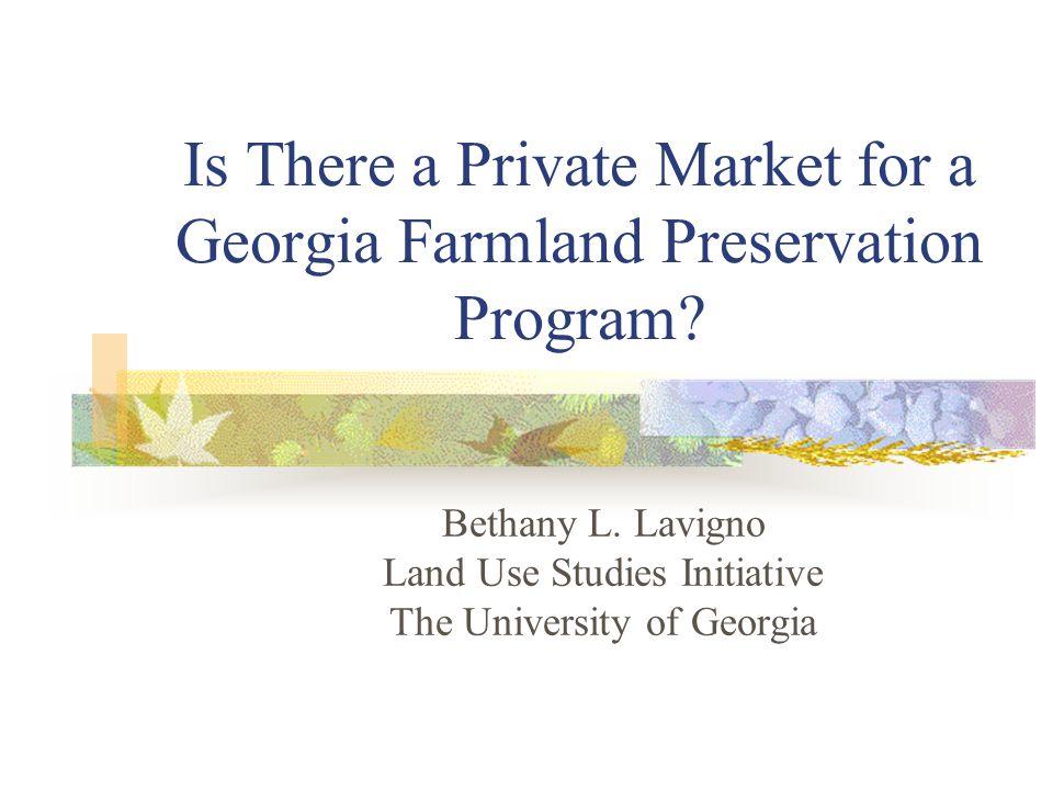 Why do we Need Farmland Preservation Programs.