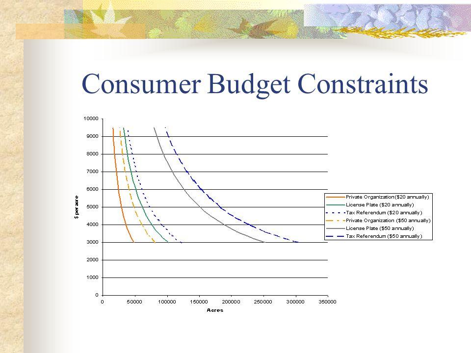 Consumer Budget Constraints