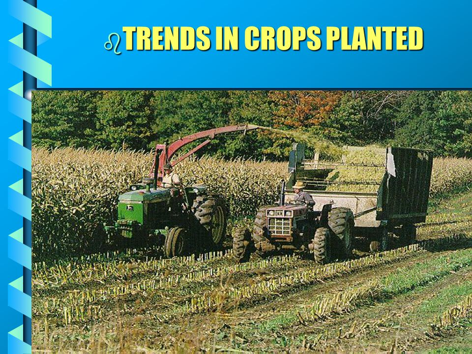 b TRENDS IN CROPS PLANTED