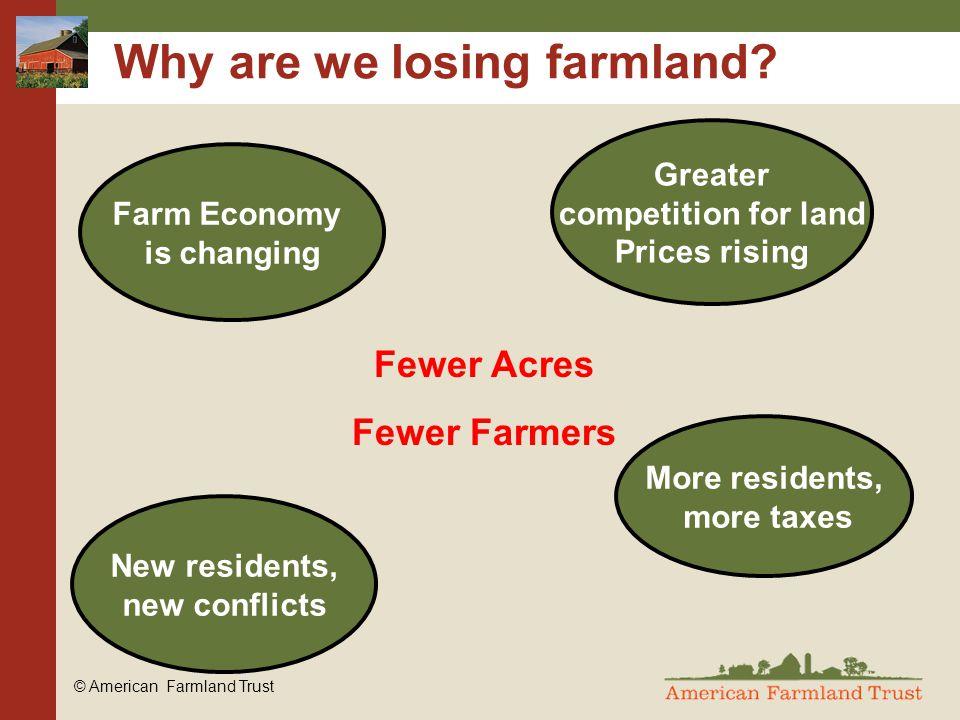 © American Farmland Trust Why are we losing farmland.