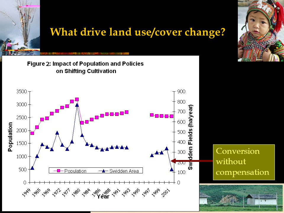 What drive land use/cover change? Conversion without compensation