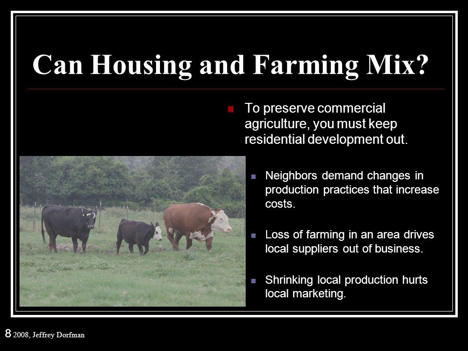 8 2008, Jeffrey Dorfman Can Housing and Farming Mix.