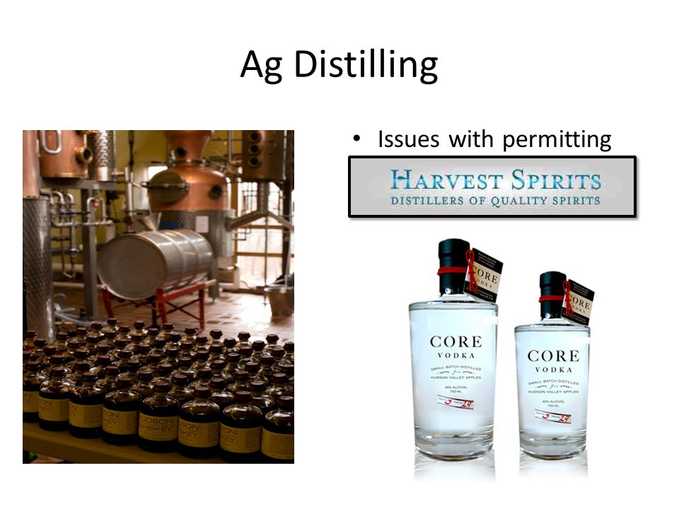 Ag Distilling Issues with permitting