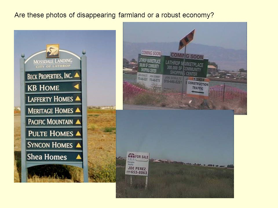 Are these photos of disappearing farmland or a robust economy